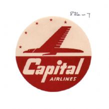 Collctable Vintage Airline luggage label Capital Airways  #834